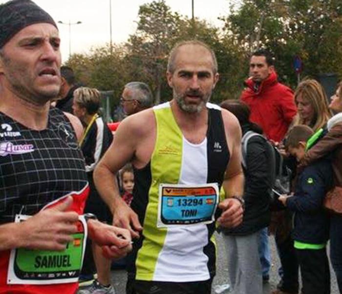 Antoni Fornés en la maratón de Valencia
