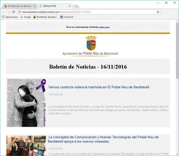 Boletín digital de Benitatxell