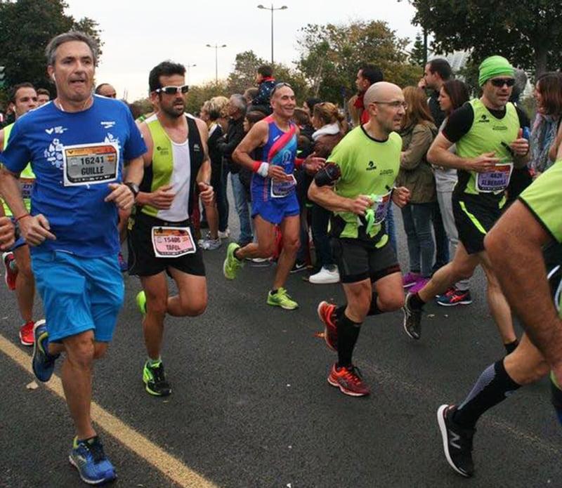 Cristóbal Buigues en la Maratón de Valencia