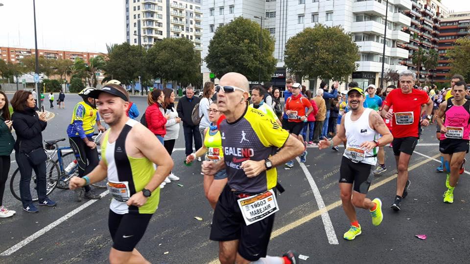Edu Crespo en la maratón de Valencia