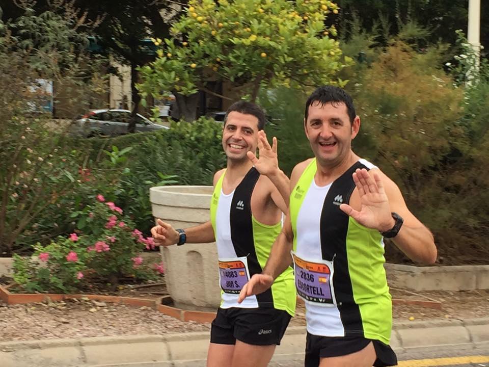 Javi Salmeron y Jaume Escortell en la maratón de Valencia
