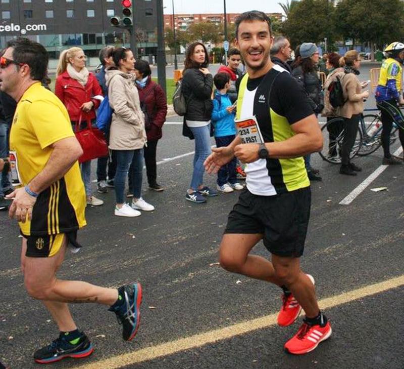Jesús Pastor en la Maratón de Valencia