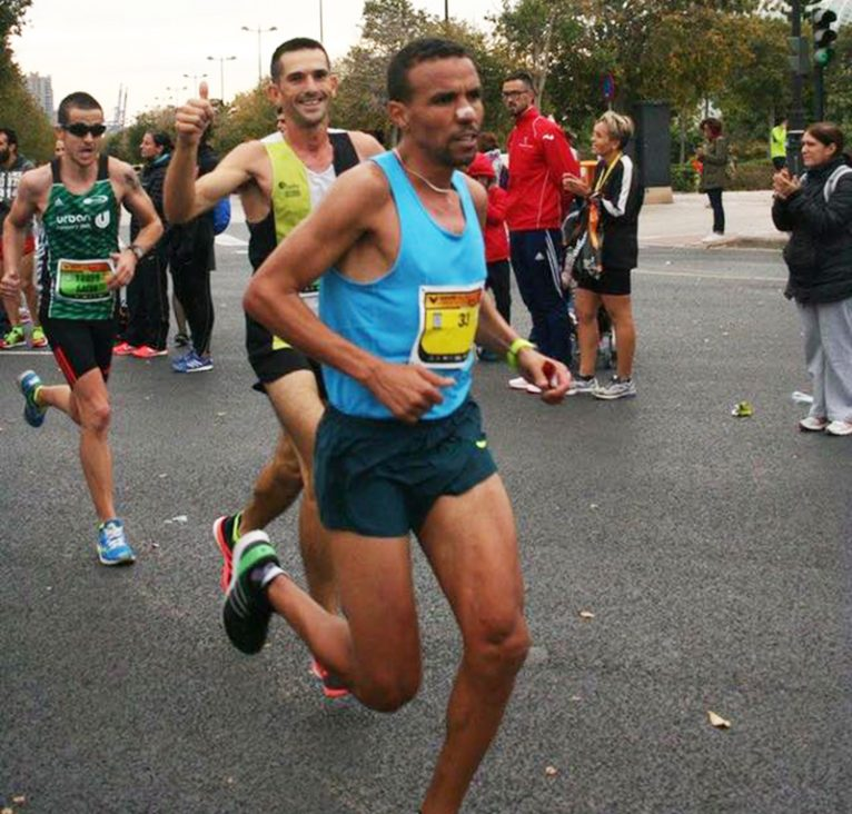 José Manuel García durante la carrera