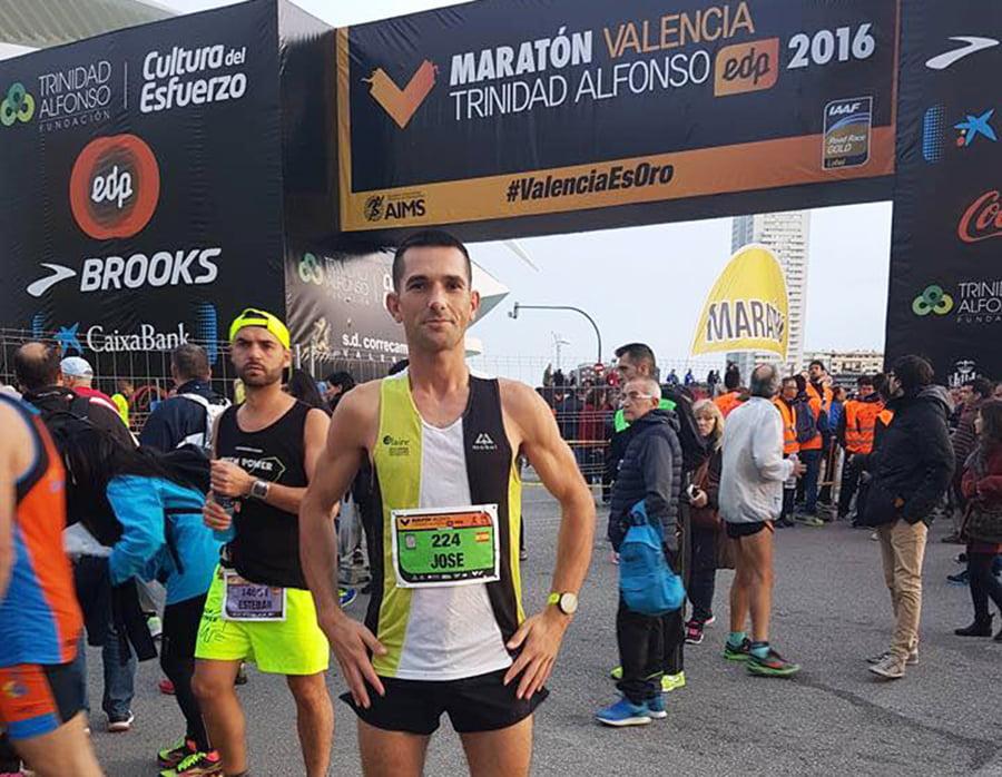 José Manuel García en la Maratón de Valencia