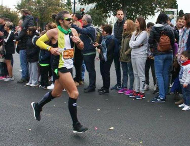 Juanjo Vallés durante la carrera
