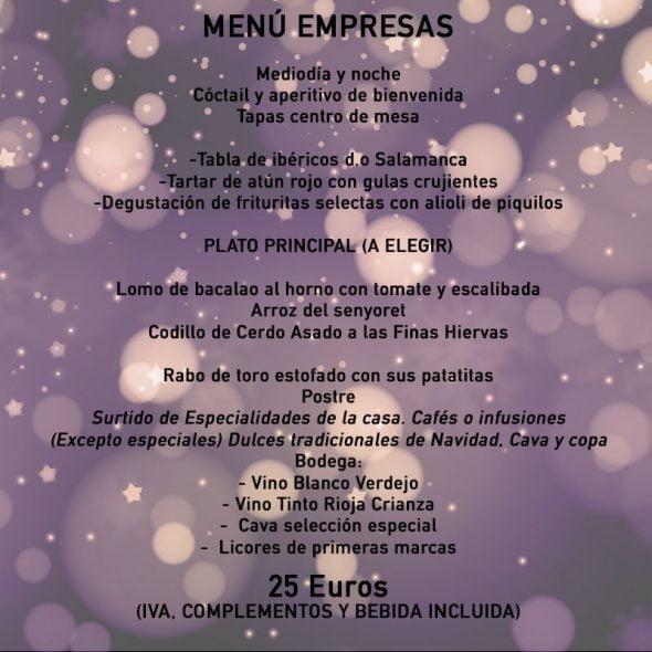 Menú de empresas Restaurante L'Almadrava