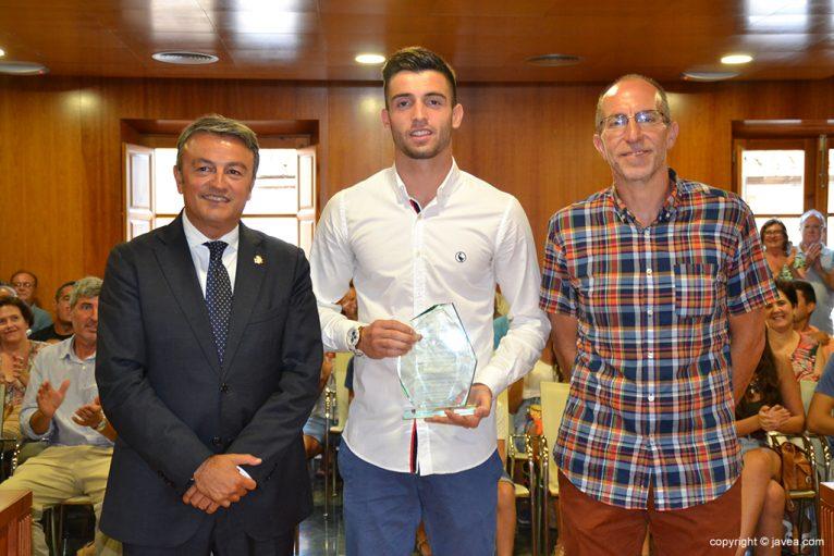 Antonio Sivera junto a Chulvi y Colomer