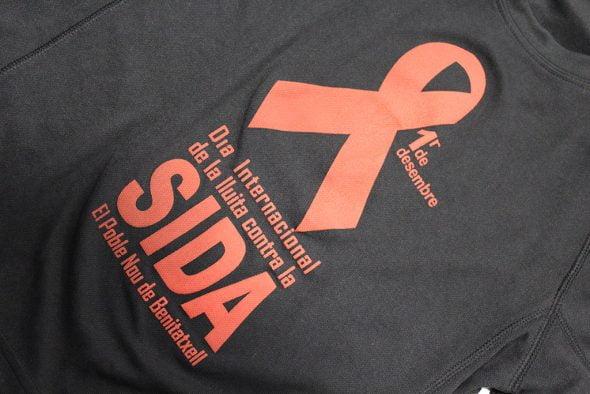 Camiseta contra el SIDA