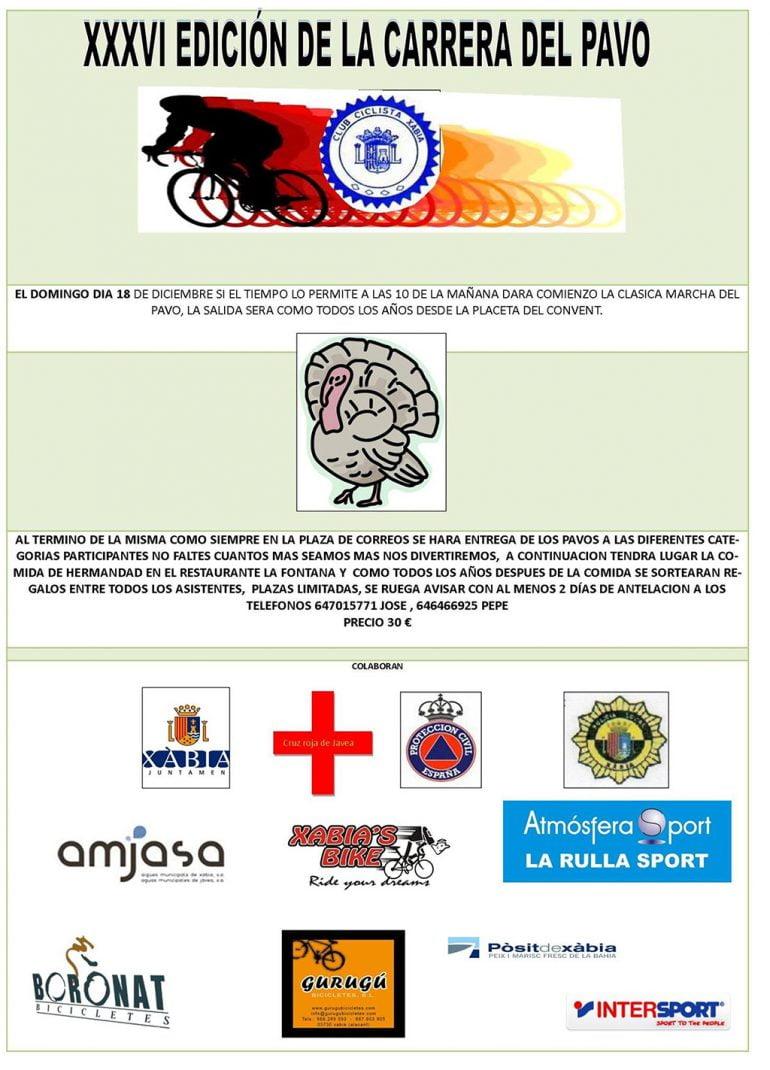 Cartel Carrera del Pavo en Xàbia