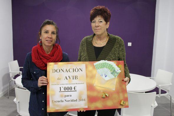 Donación de la Asociación AVIB