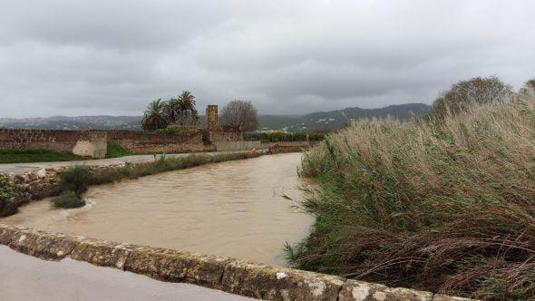 Río Gorgos antes de desbordarse