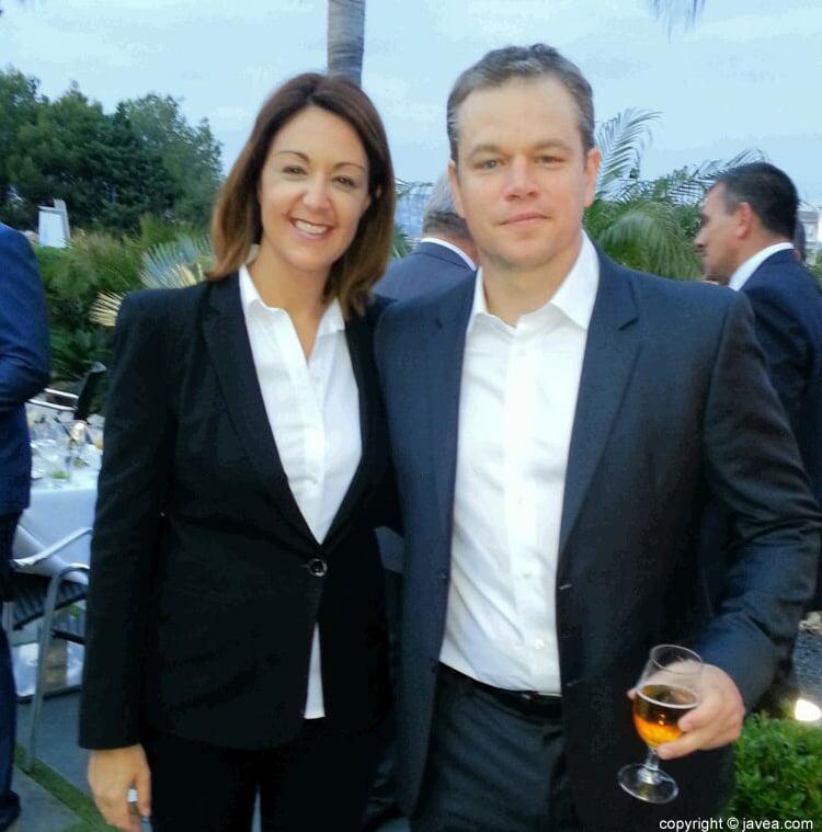 Matt Damon junto a Rosana de Salones Carrasco