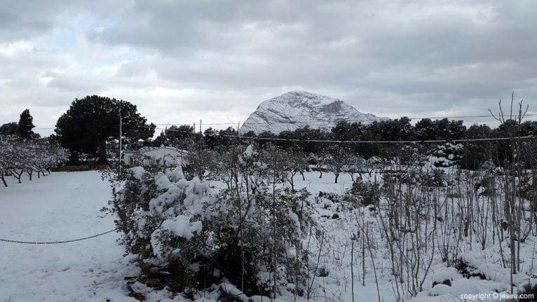 102 Nieve en Xàbia