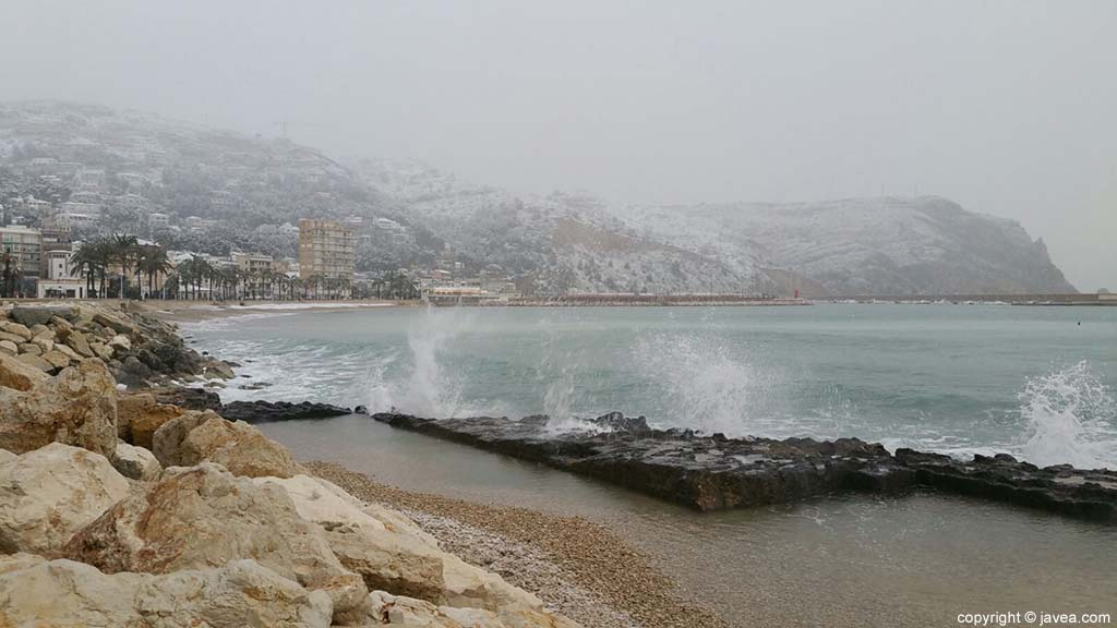 12 Nieve en Xàbia