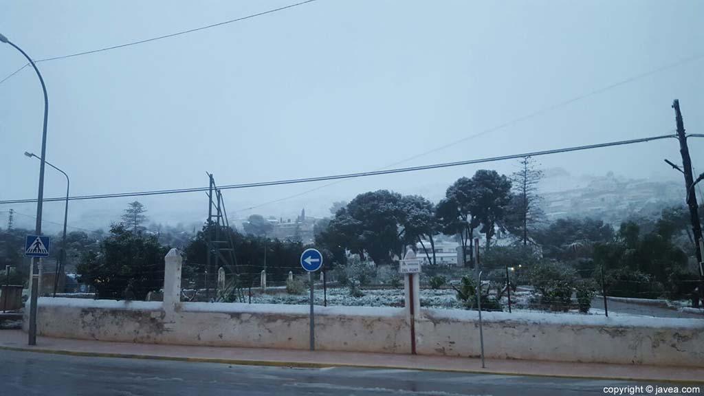 14 Nieve en Xàbia