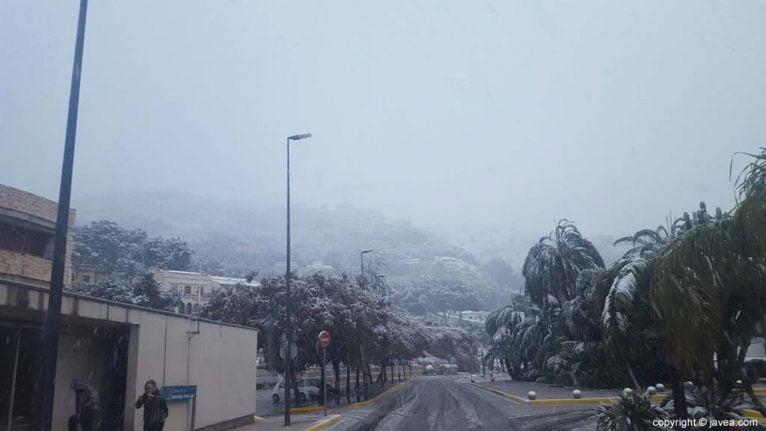 17 Nieve en Xàbia