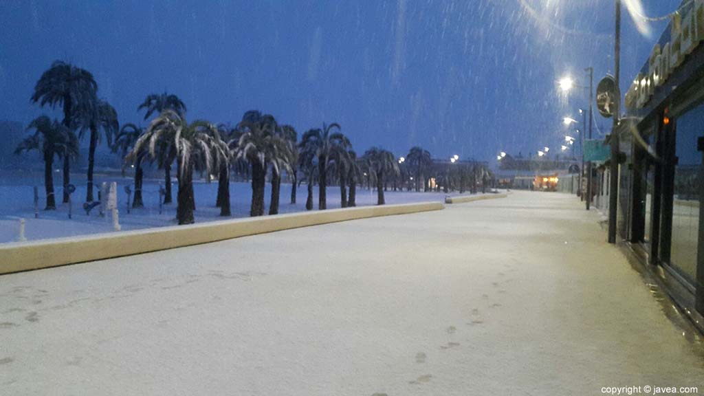29 Nieve en Xàbia