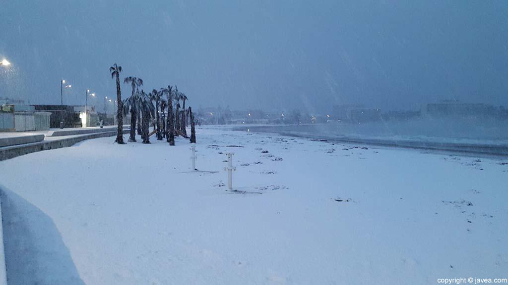 34 Nieve en Xàbia