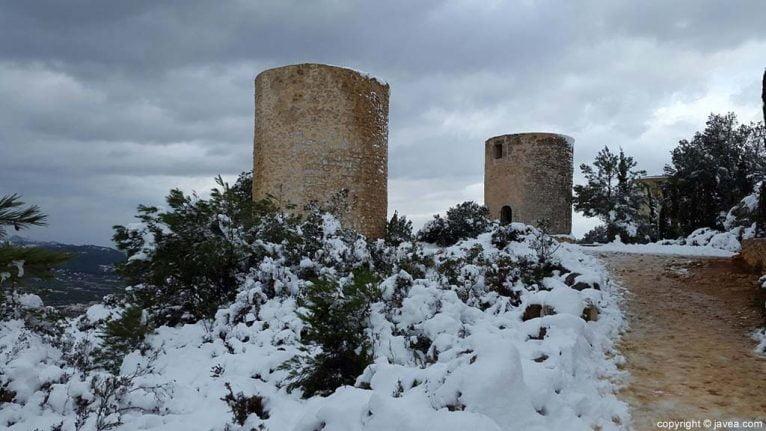 70 Nieve en Xàbia