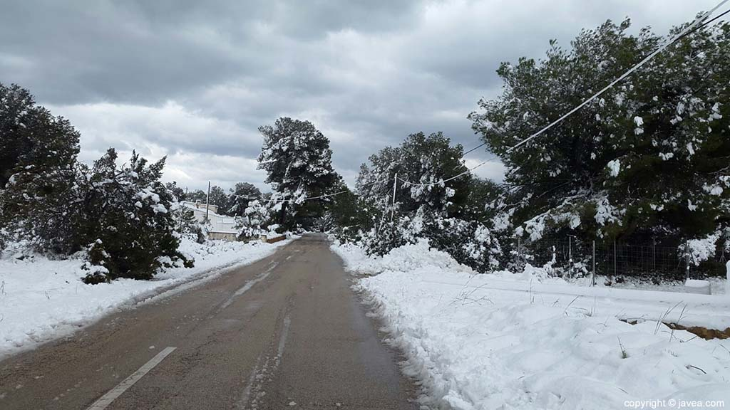 71 Nieve en Xàbia