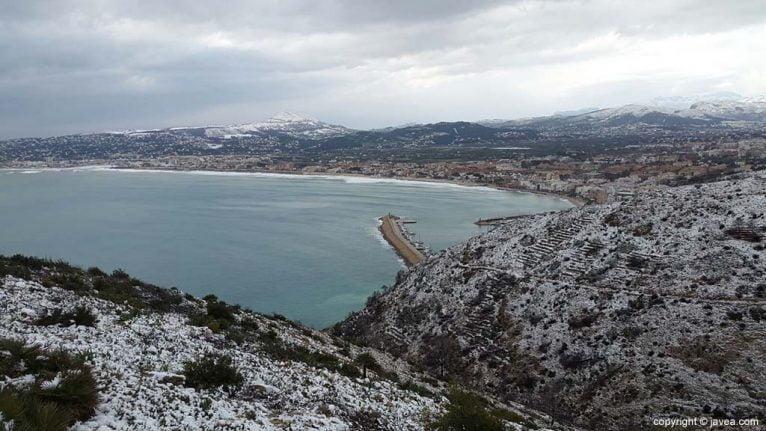 72 Nieve en Xàbia