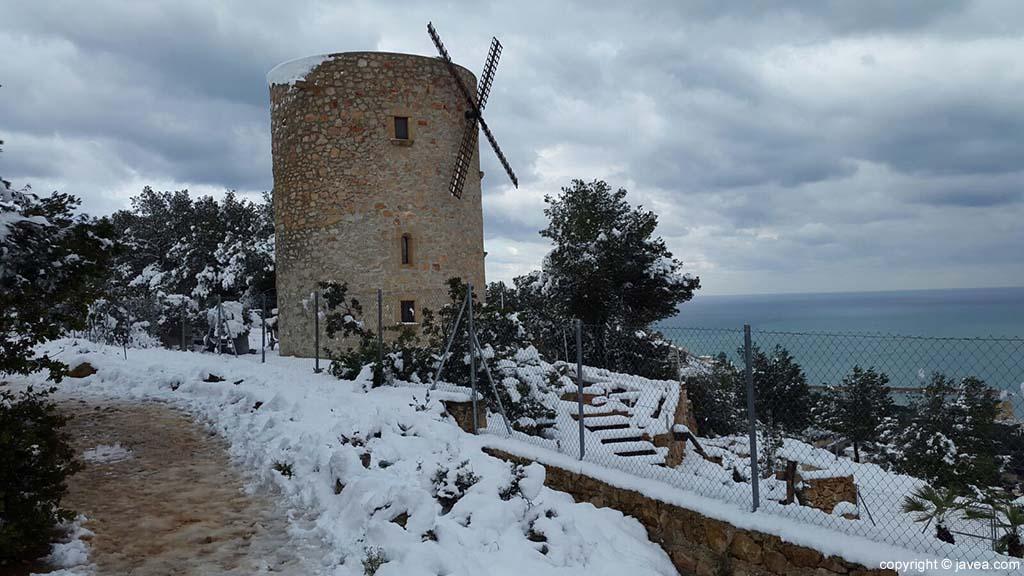 83 Nieve en Xàbia