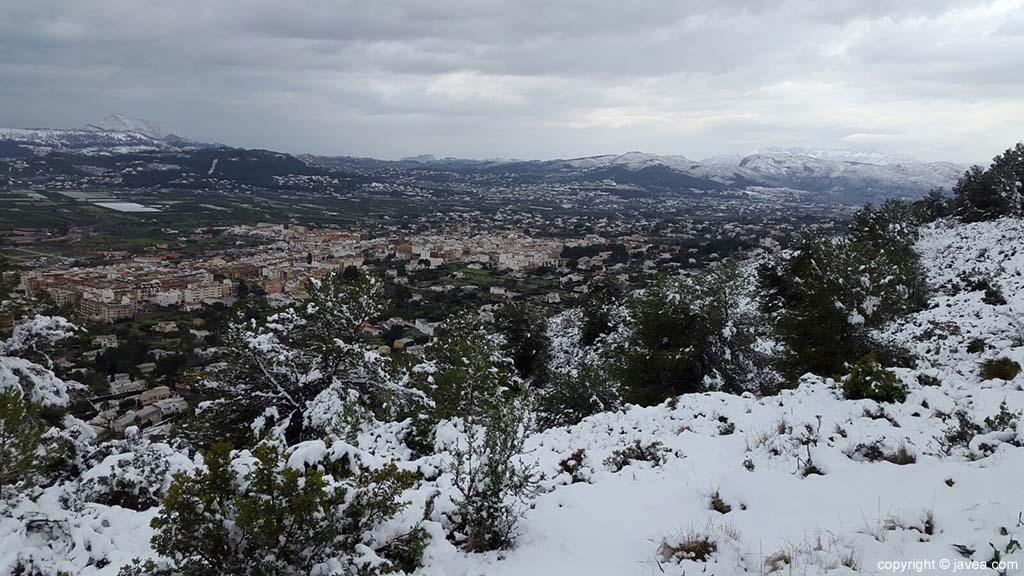 84 Nieve en Xàbia
