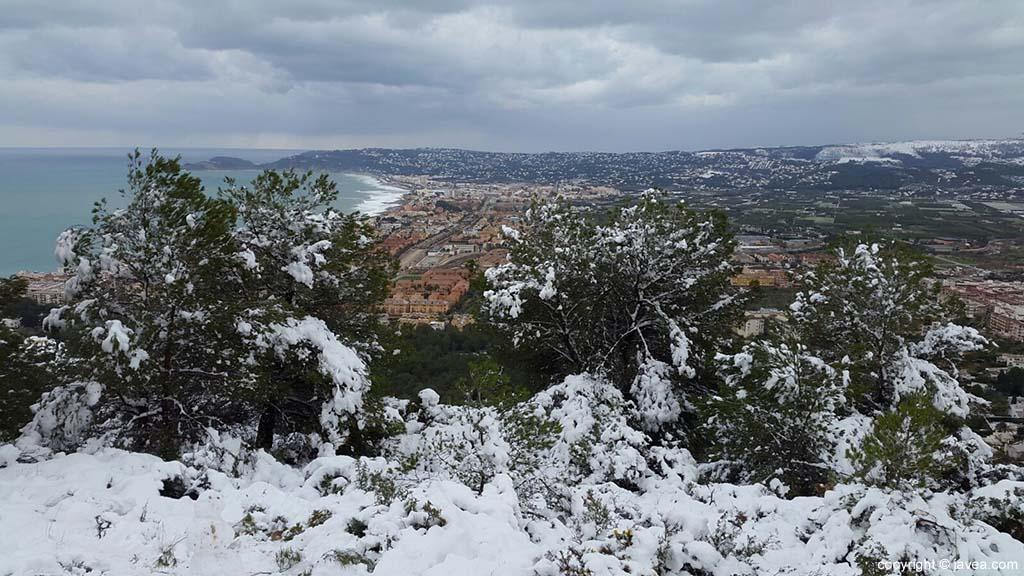 89 Nieve en Xàbia
