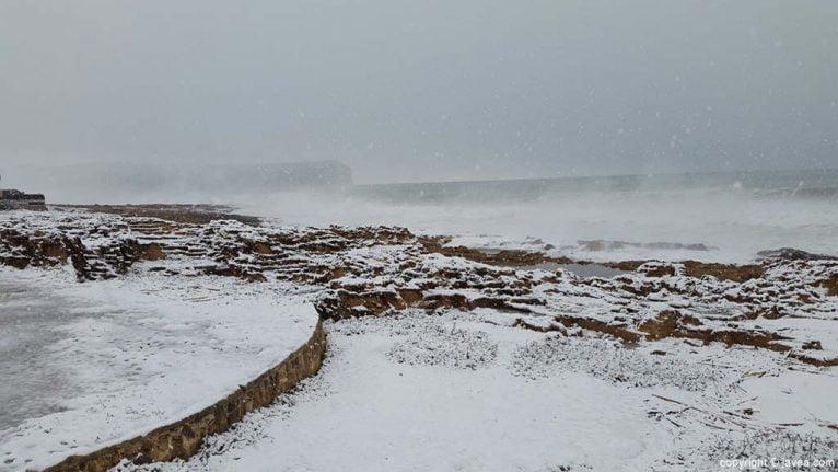 91 Nieve en Xàbia
