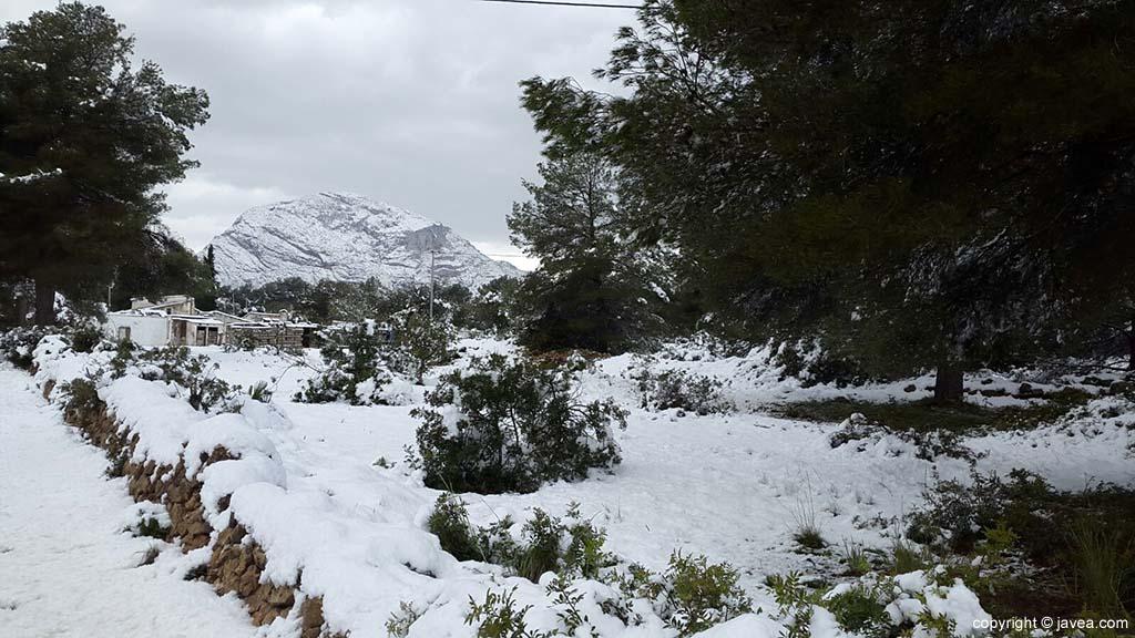 92 Nieve en Xàbia