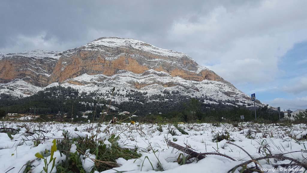 93 Nieve en Xàbia