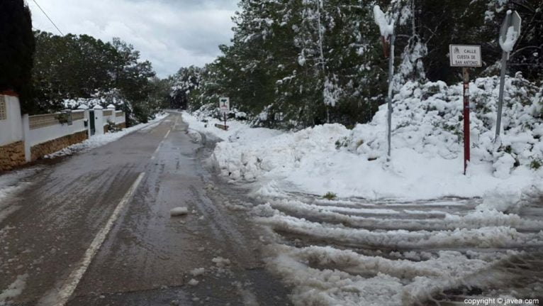 97 Nieve en Xàbia