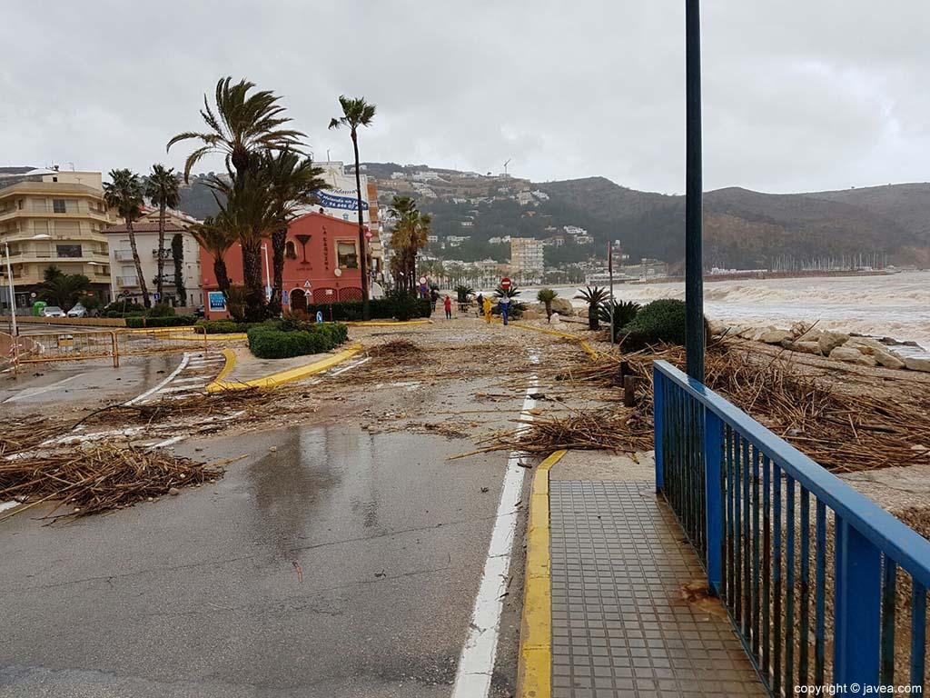 Estado de la carretera por el temporal