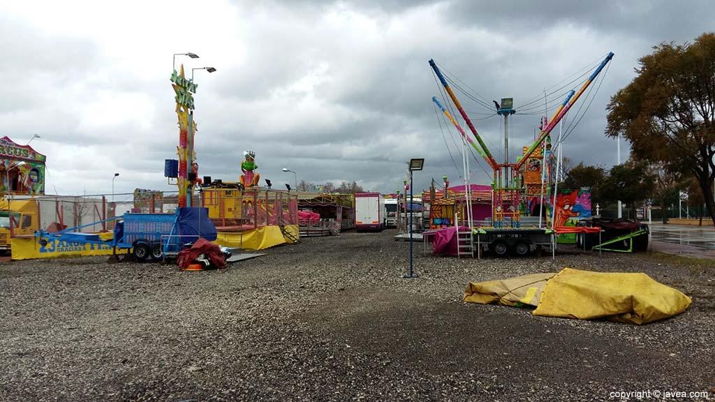 Feria de atracciones cerrada