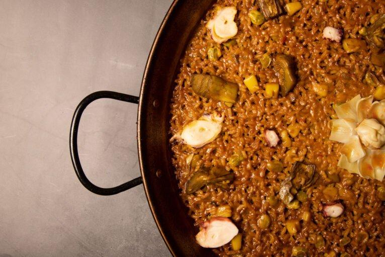 Arroz con alcachofas y marisco - Restaurante La Fontana