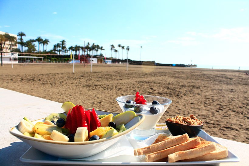 Desayunar en la playa Restaurante La Fontana