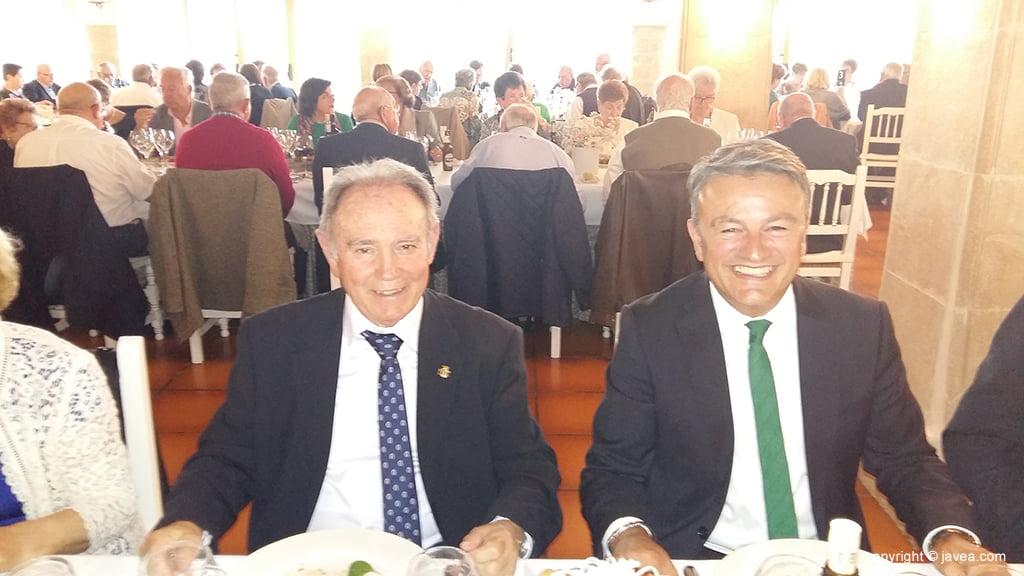 El alcalde y presidente de la Asociación en el XIX Aniversario de la entidad