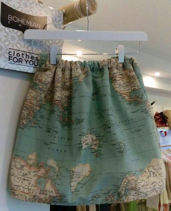 World Map Skirt Javea Com Xabia Com