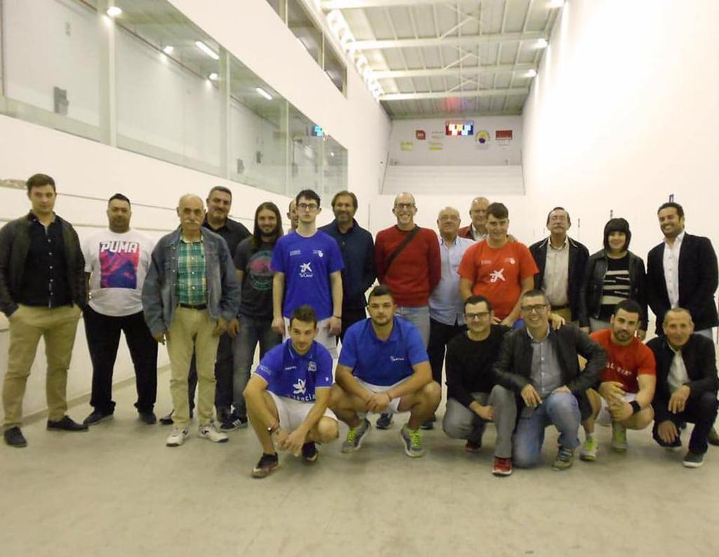 Finalistas con clubes participantes en la Liga Comarcal de Raspall