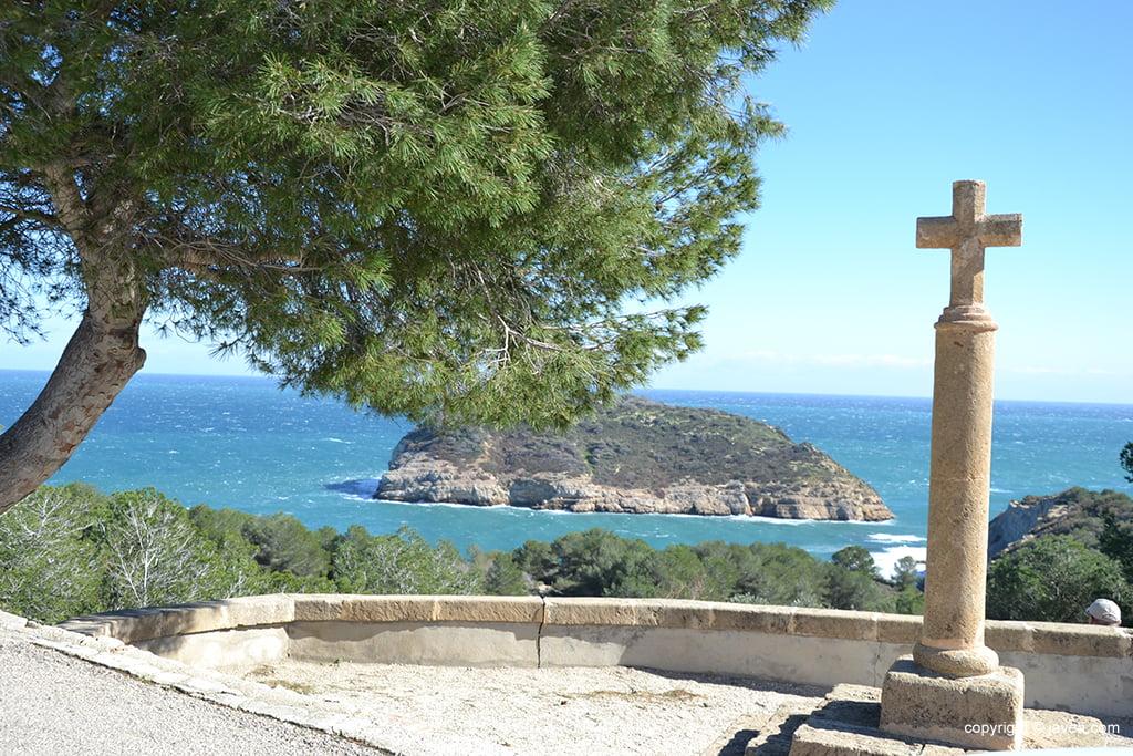 Creu del Portixoll y Illa del Portitxol