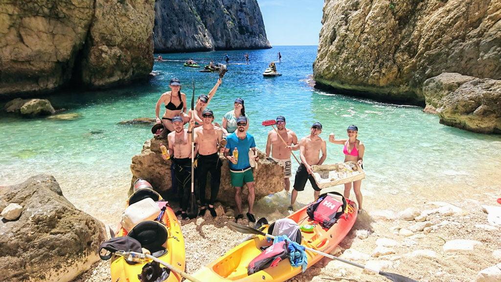 Lipieza de los fondos marinos de Xàbia