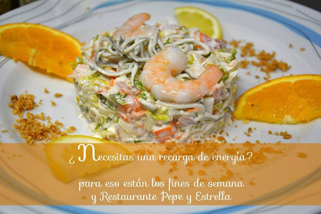 Platos Restaurante Pepe y Estrella
