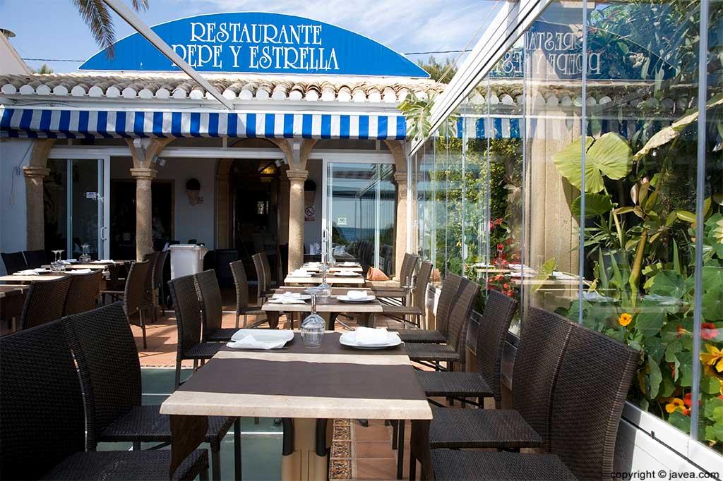 Terraza Restaurante Pepe y Estrella