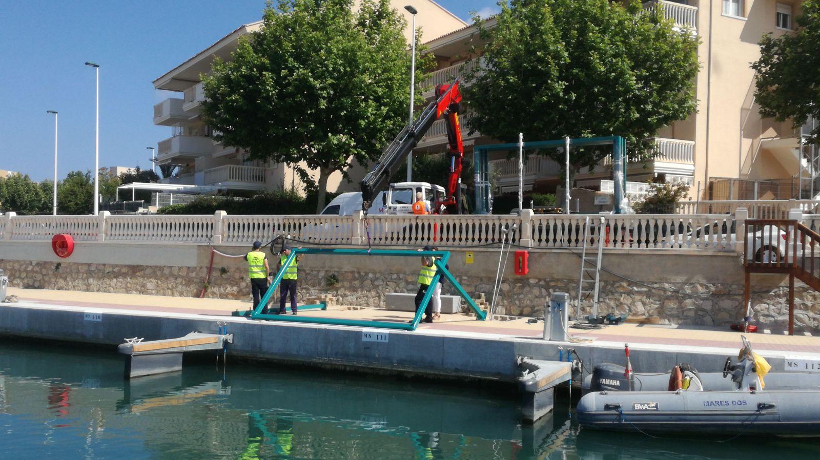 Trabajos en el Canal de Nou Fontana