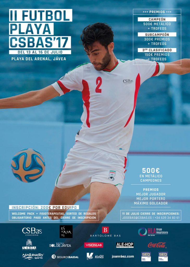 Cartel del Torneo de fútbol Playa CSBas 2017