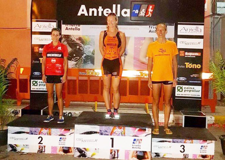 Cristina Roselló en el podio