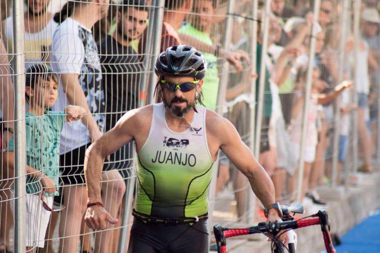 Juanjo Vallés en la transición de ciclismo