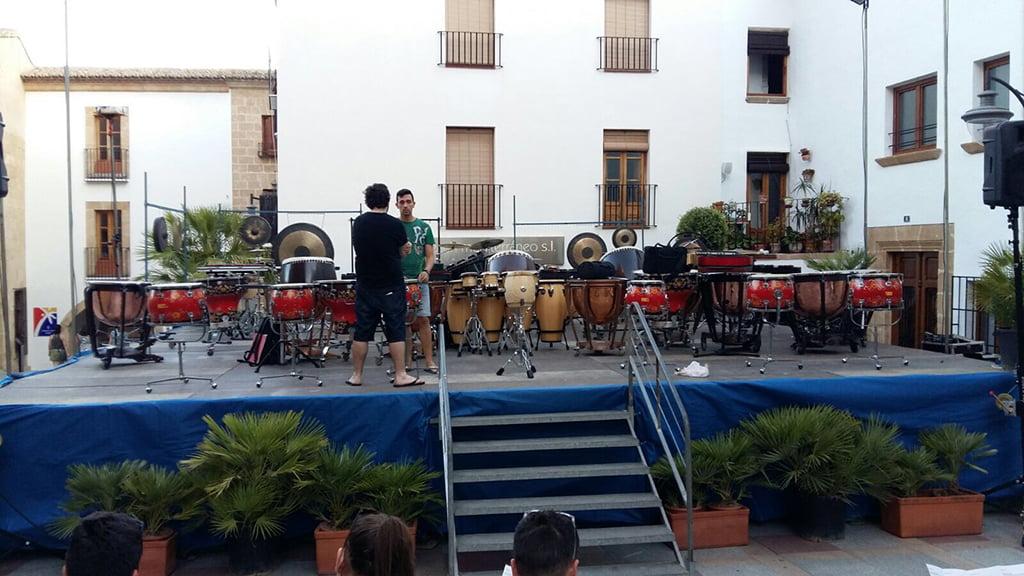 Todo preparado para el primer concierto del festival de percusión