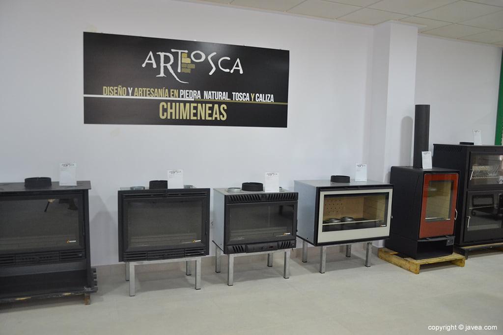 Amplia variedad de chimeneas en ARTOSCA
