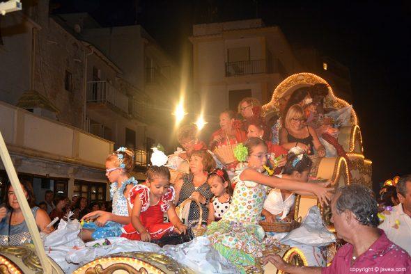 Carrozas cabalgata de fiestas del loreto